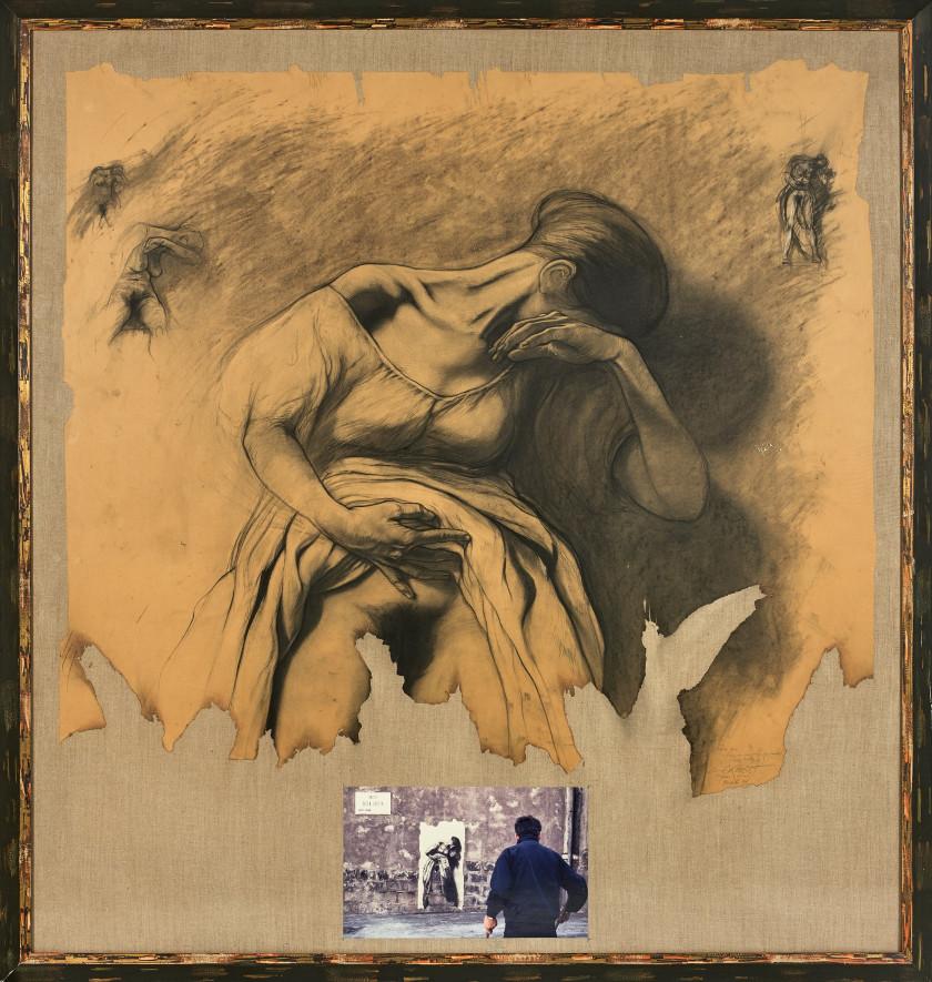 46d832ef620 Ernest PIGNON-ERNEST (Né en 1942) ETUDE POUR LA FEMME AU FEU ENTRE LES.