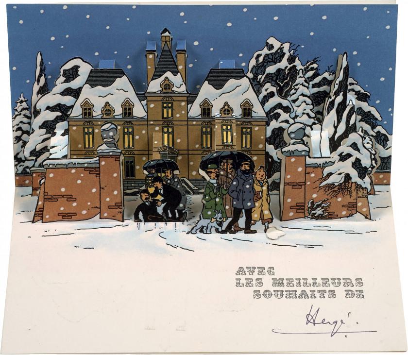 image carte de voeux The World of Hergé, Tintin's Creator | Sale n°3313 | Lot n°18
