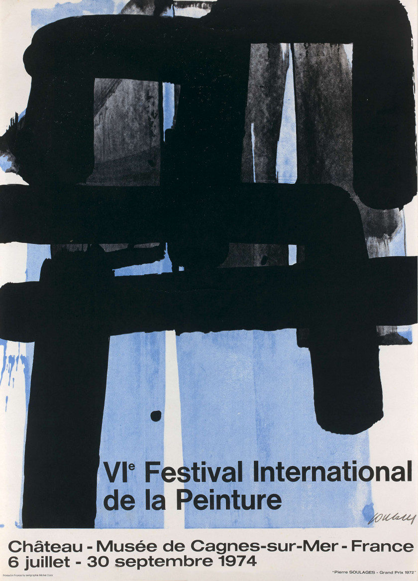 Pierre SOULAGES (Né en 1919) VIe Festival International de la Peinture - 1974