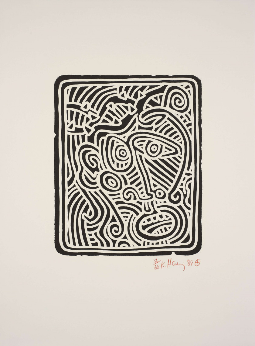 Keith HARING (1958 - 1990) Stones - 1989