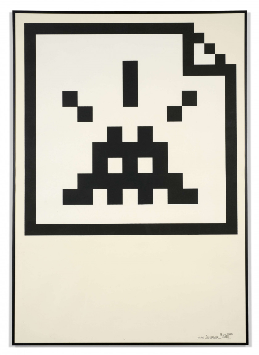 INVADER (Né en 1969) Space file (black) - 2006 Sérigraphie en noir