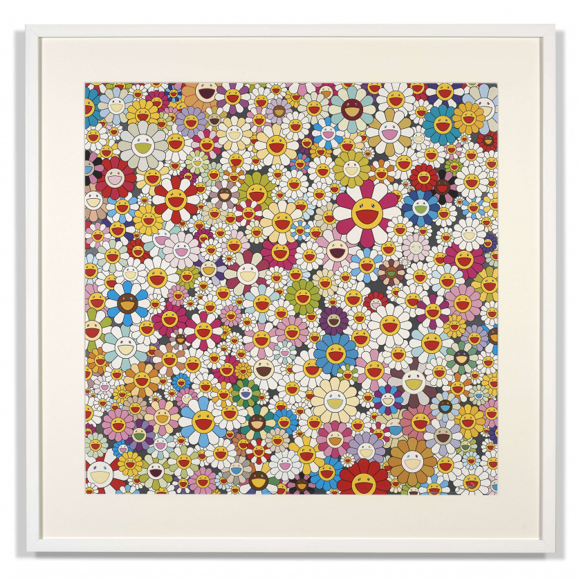 Takashi MURAKAMI (né en 1962) Field of Smiling Flowers - 2010