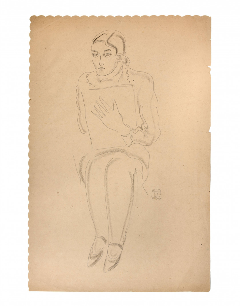 Sanyu Brush Drawings Jean Claude Riedel Collection 2nd Sale Sale