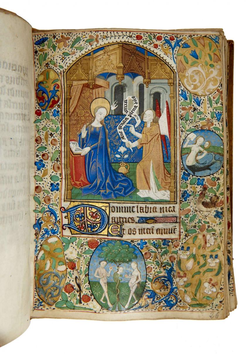 Livre d'heures en latin à l'usage de Rouen, enluminé sur peau de vélin...