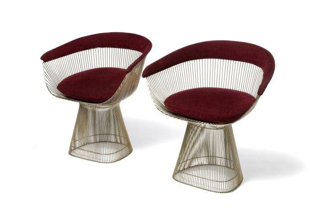 Warren PLATNER (Né en 1919) Paire de fauteuils