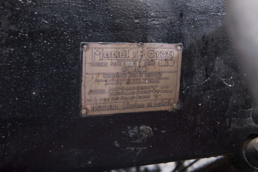 c.1925 Monet & Goyon type VM2 Cyclecar  No reserve