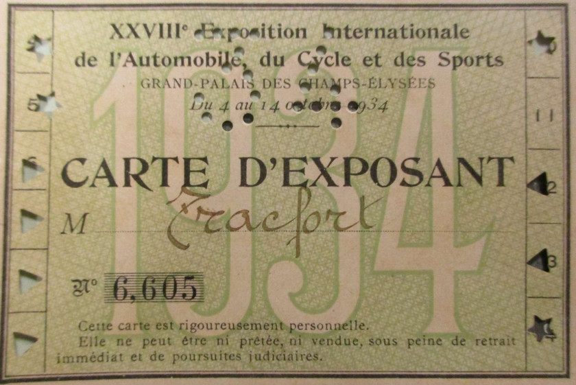 "1934 Tracfort type B1 Sport "" Mouette ""  No reserve"