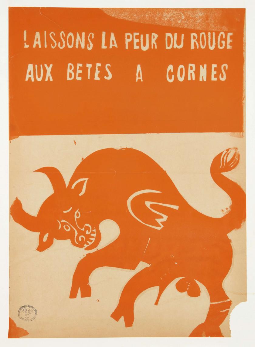 fca631b8077 Laissons la peur du rouge aux bêtesà cornes - Grenoble. Mai 68