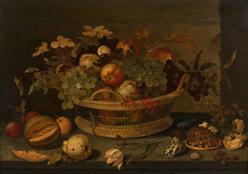 Balthasar van der Ast Middelburg, vers 1593 - Delft, 1657 Panier de fruits...