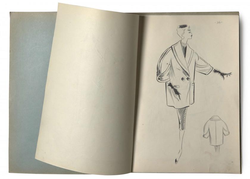 20ac0e297704a1 ANONYME, circa 1955 TROIS CARNETS DE CROQUIS, techniques diverses   crayon,  feutre, ...