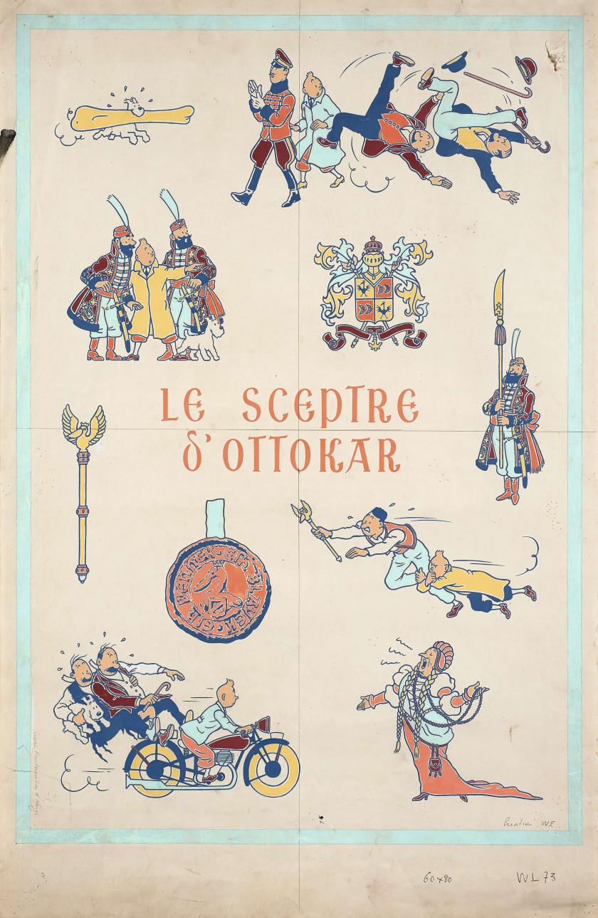 Papier Peint Tintin Et Milou the world of hergé, tintin's creator | sale n°3376 | lot n°136