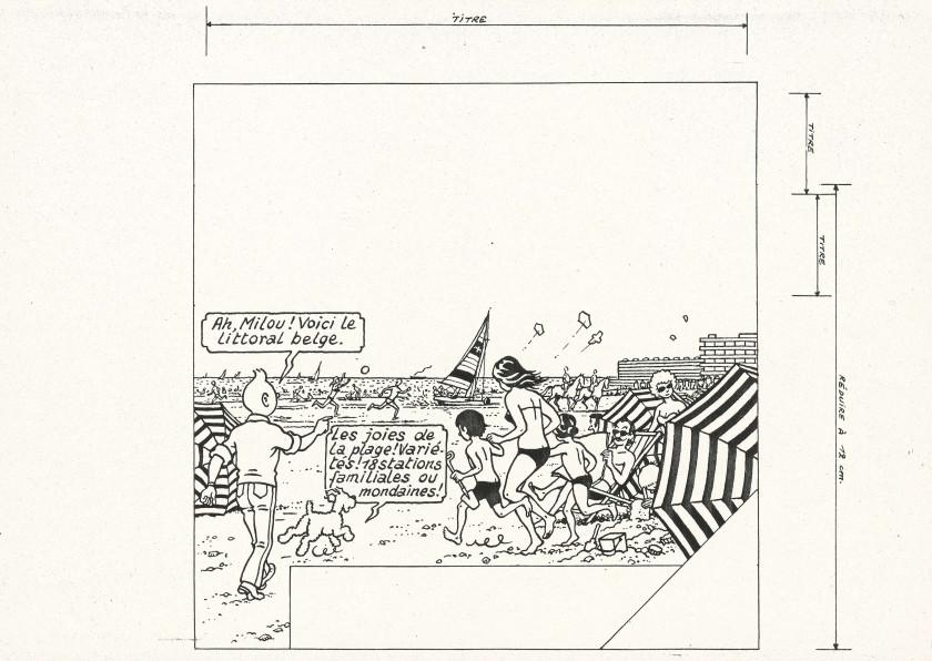 Papier Peint Tintin Et Milou l'univers de tintin | vente n°3376 | lot n°132 | artcurial