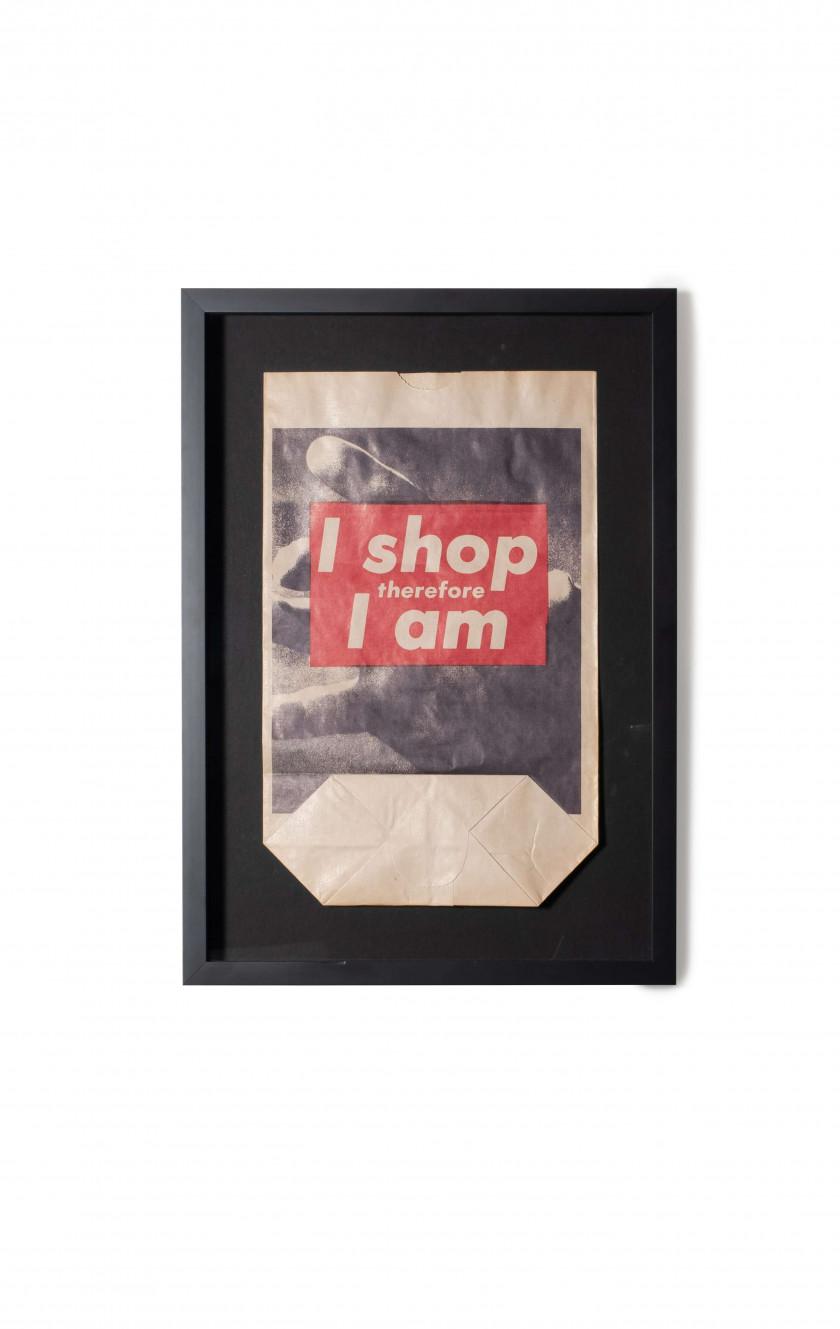 Barbara KRUGER (Née en 1945) I shop therefore I am - 1990 Photolithographie  en