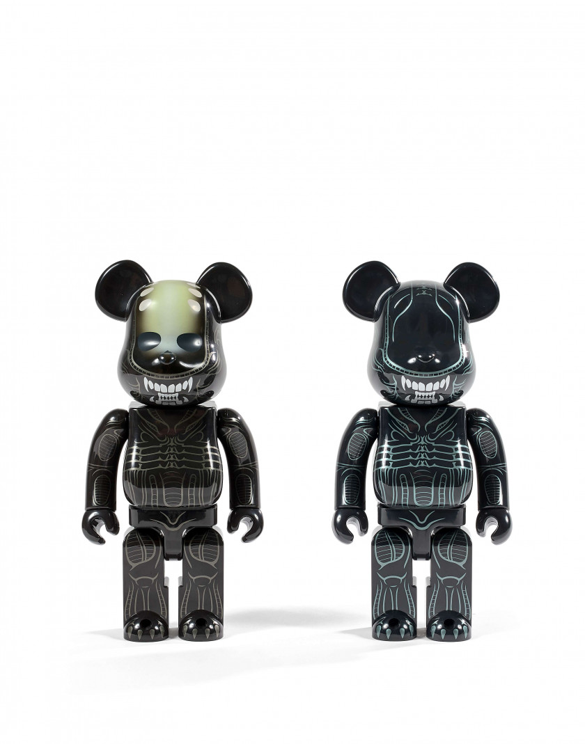 MEDICOM x 20TH CENTURY  Be@rbrick 400% / Aliens - 2001/2016 (Set de 2)Aliens / Be@rbrick 400% - 2001/2016 (Set de 2) Vinyle