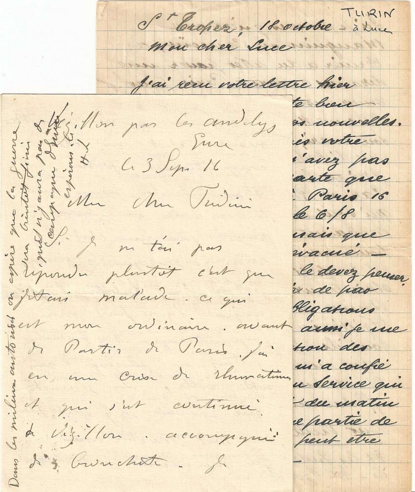 Henri Lebasque & André Turin L.a.s. à Frédéric et Maximilien Luce