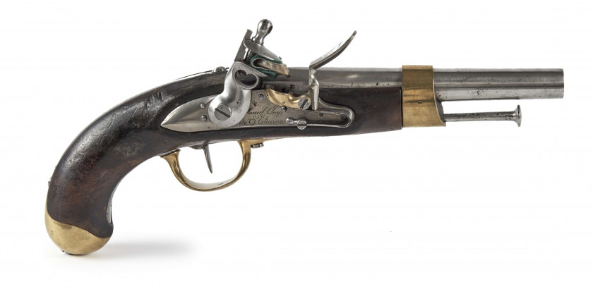 PISTOLET D'ARCON MODELE AN XIII Canon rond