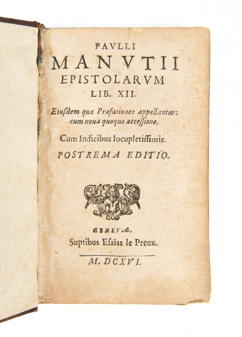 Paul MANUCE 1512-1574 Epistolarum lib. XII