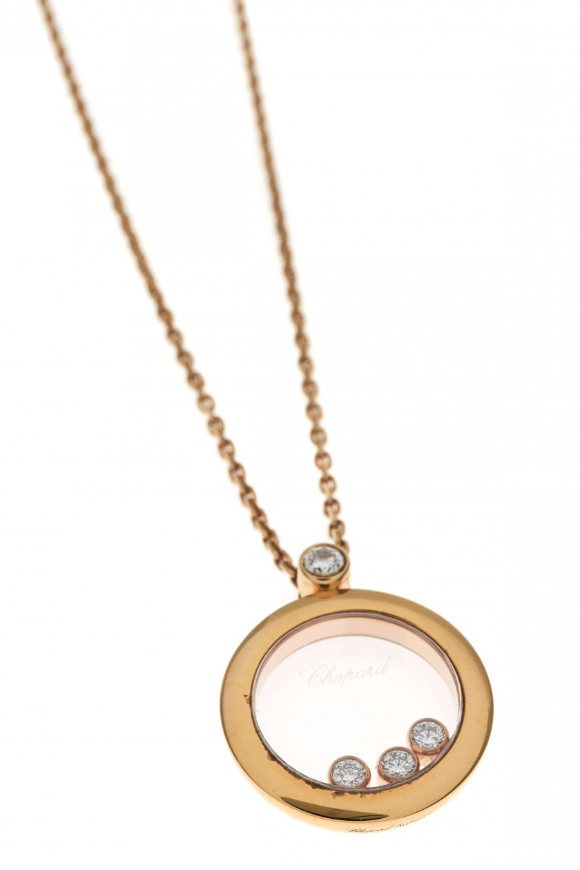 "CHOPARD  Collier pendentif ""Happy Diamonds"""