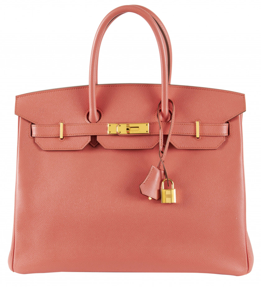 HERMÈS 2010  Sac BIRKIN 35 Veau Epsom rose Flamingo Garniture métal plaqué or  BIRKIN 35 bag Pink Flamingo Epsom cal...