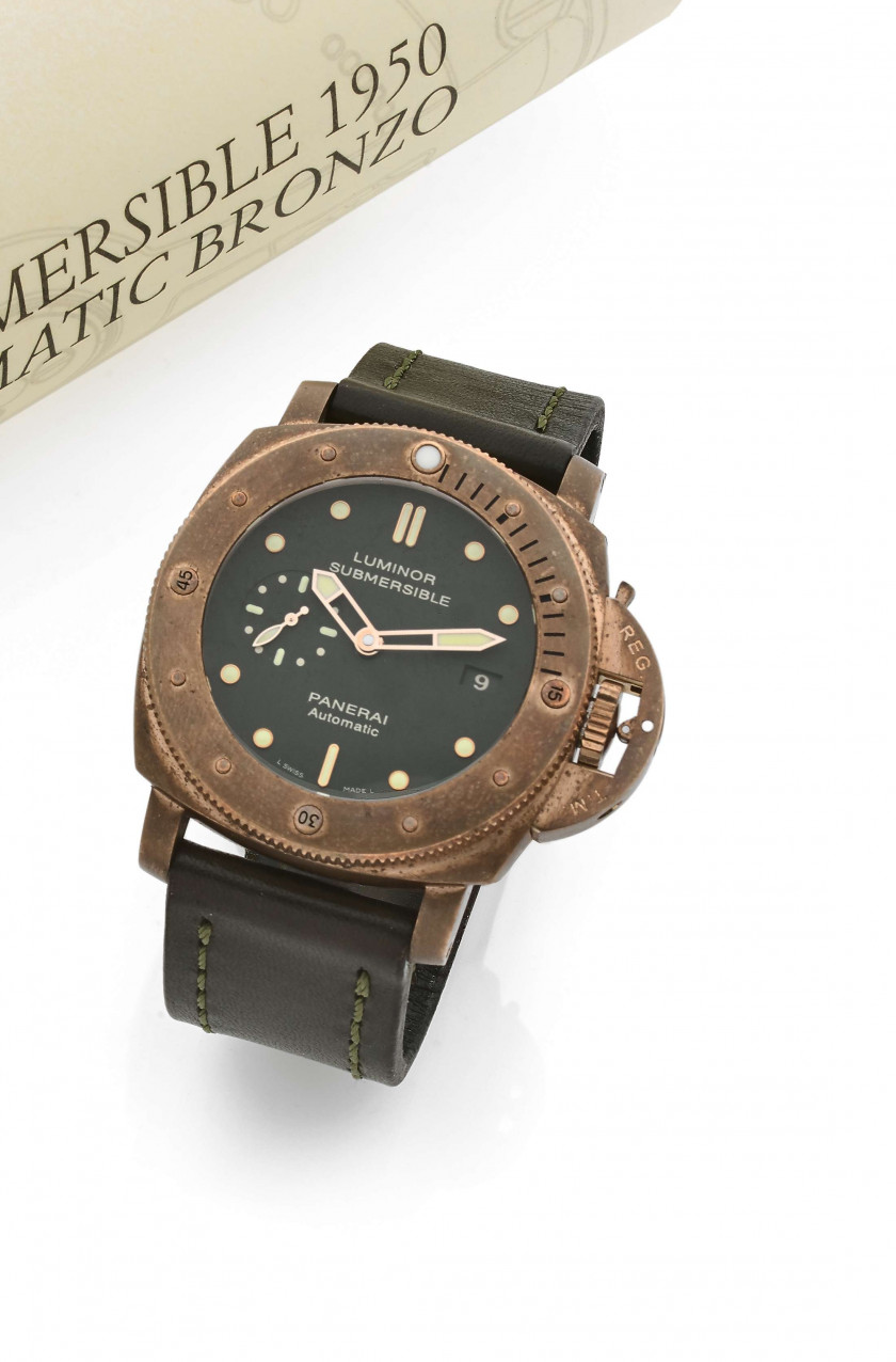 PANERAI  Luminor 1950 Submersible Bronze 3 days PAM382, ref. OP6808, n° BB1470656