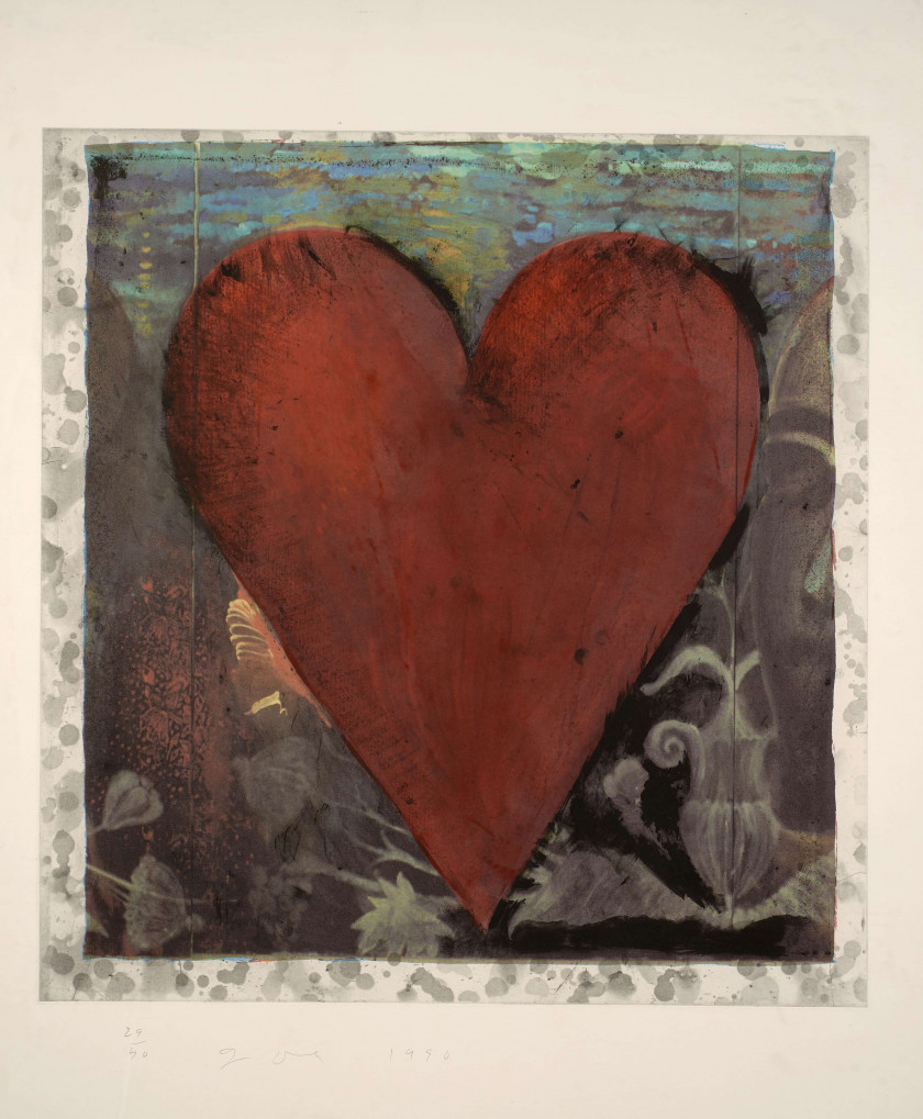 Jim DINE (Né en 1935) Hand Colored Heart - 1990