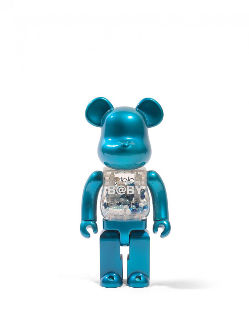COLETTE x MEDICOM  Be@rbrick 400% / My First b@by Be@rbrick - 2001/2018 Vinyle peint