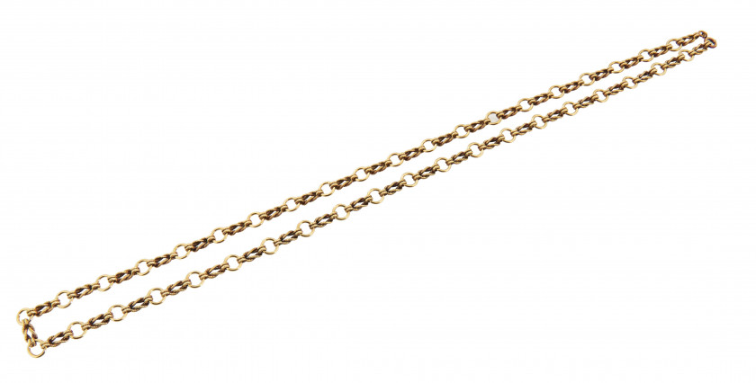 HERMÈS Circa 1980  Sautoir et bracelet AUDIERNE Or jaune 18K Poids total : 100 g  AUDIERNE long necklace and bracelet...