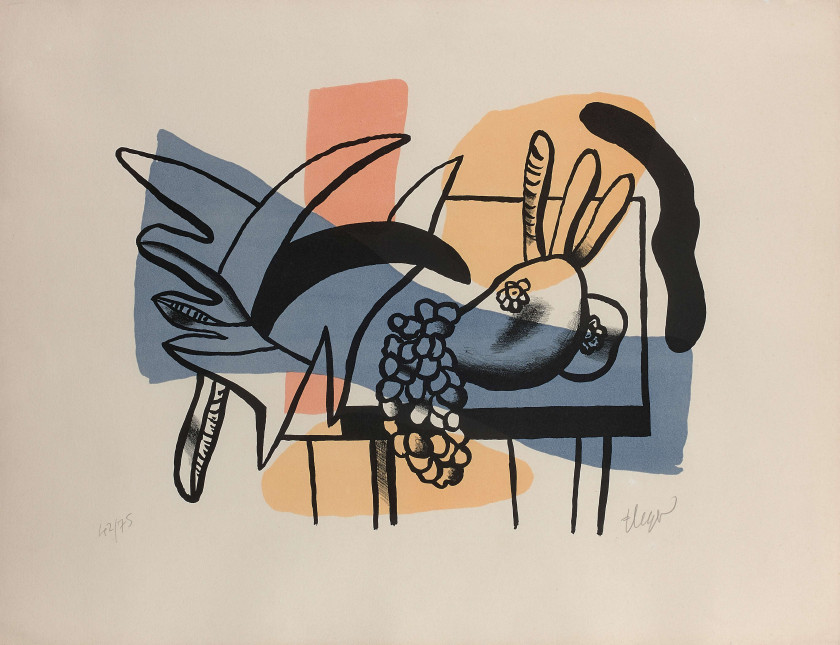 Fernand LEGER (Argentan, 1881 - 1955) Nature morte aux fruits - 1948