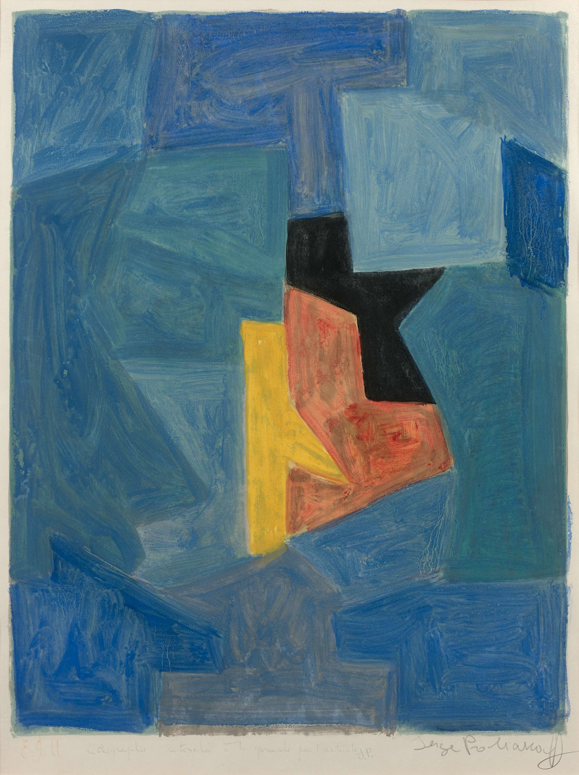 Serge POLIAKOFF (1900 - 1969) Composition - 1966/69