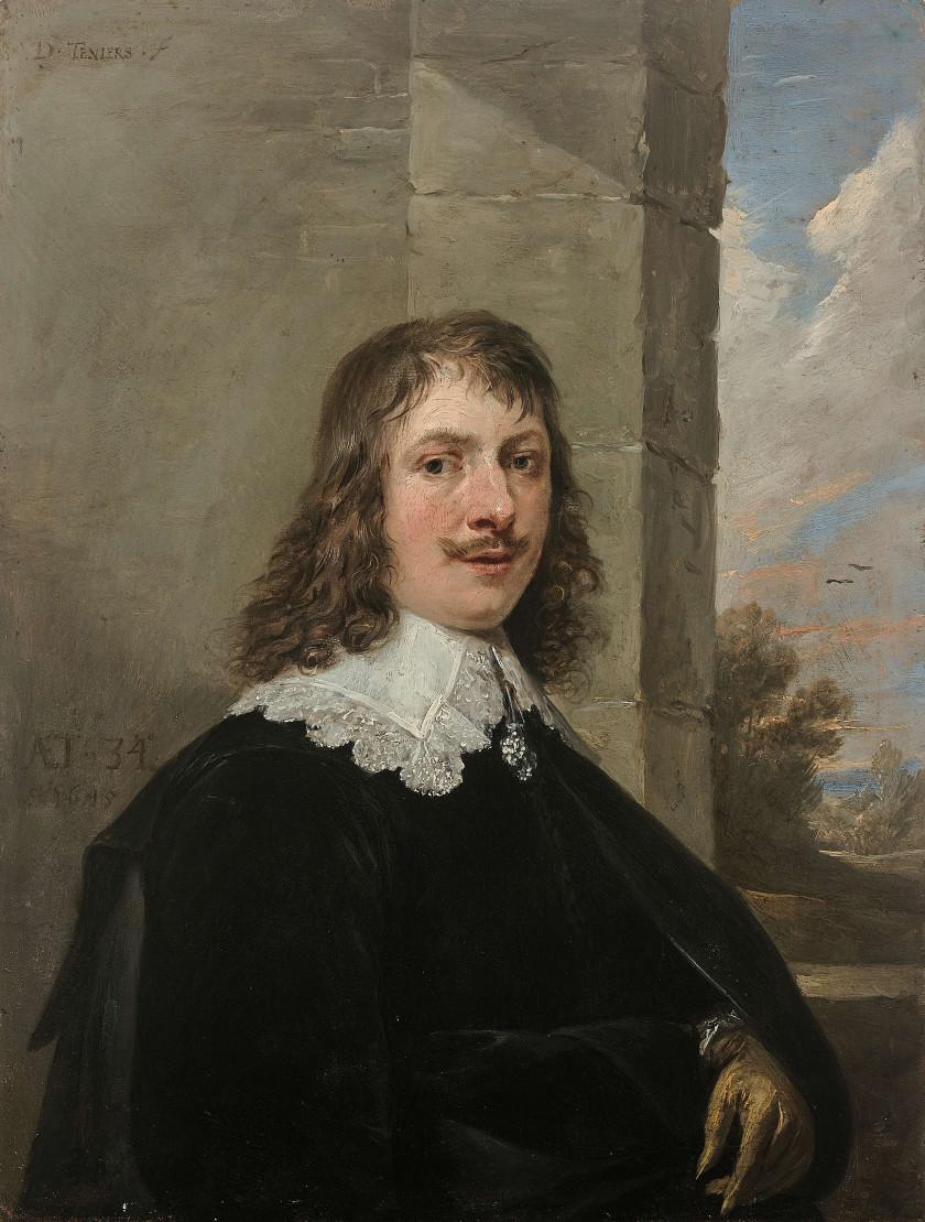 David TENIERS II, dit le Jeune Bruxelles, 1610 - 1690 Autoportrait de...
