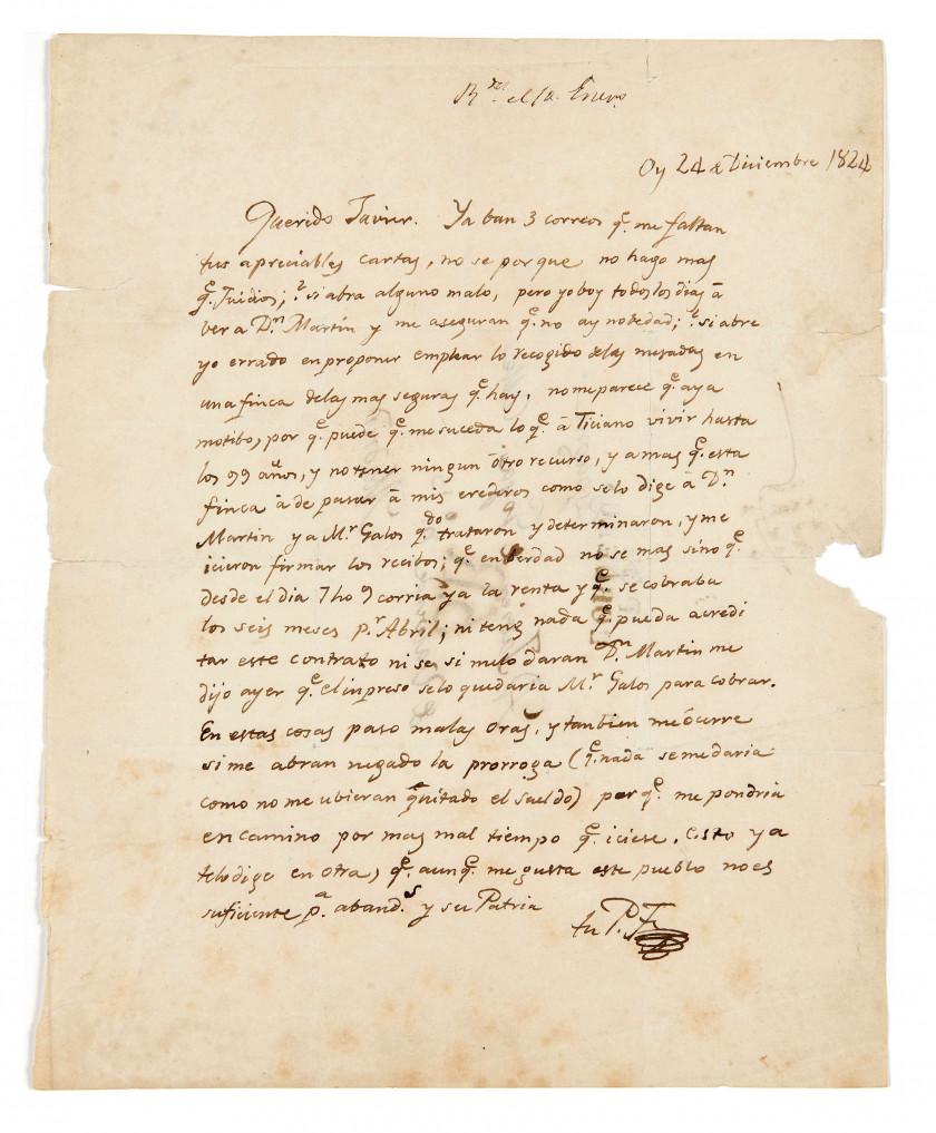 FRANCISCO DE GOYA Y LUCIENTES (1746-1828) Lettre autographe signée, en...