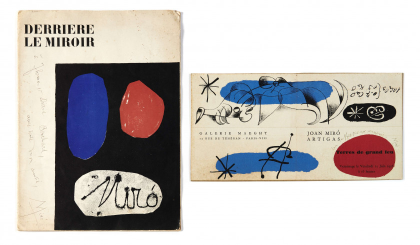 JOAN MIRÓ (1893-1983) Archives du film Around and AboutJoan Miró comprenant 2 dessins originaux