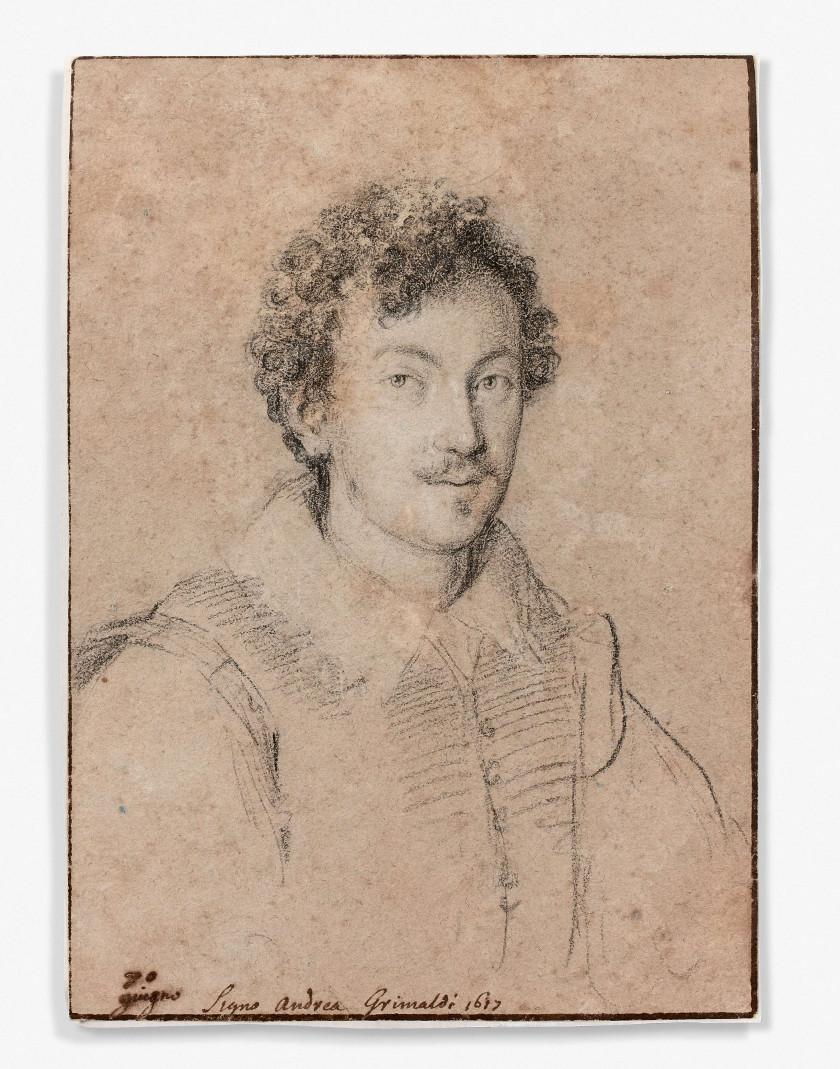 Ottavio LEONI Rome, 1578 - 1630 Portrait d'Andrea Grimaldi