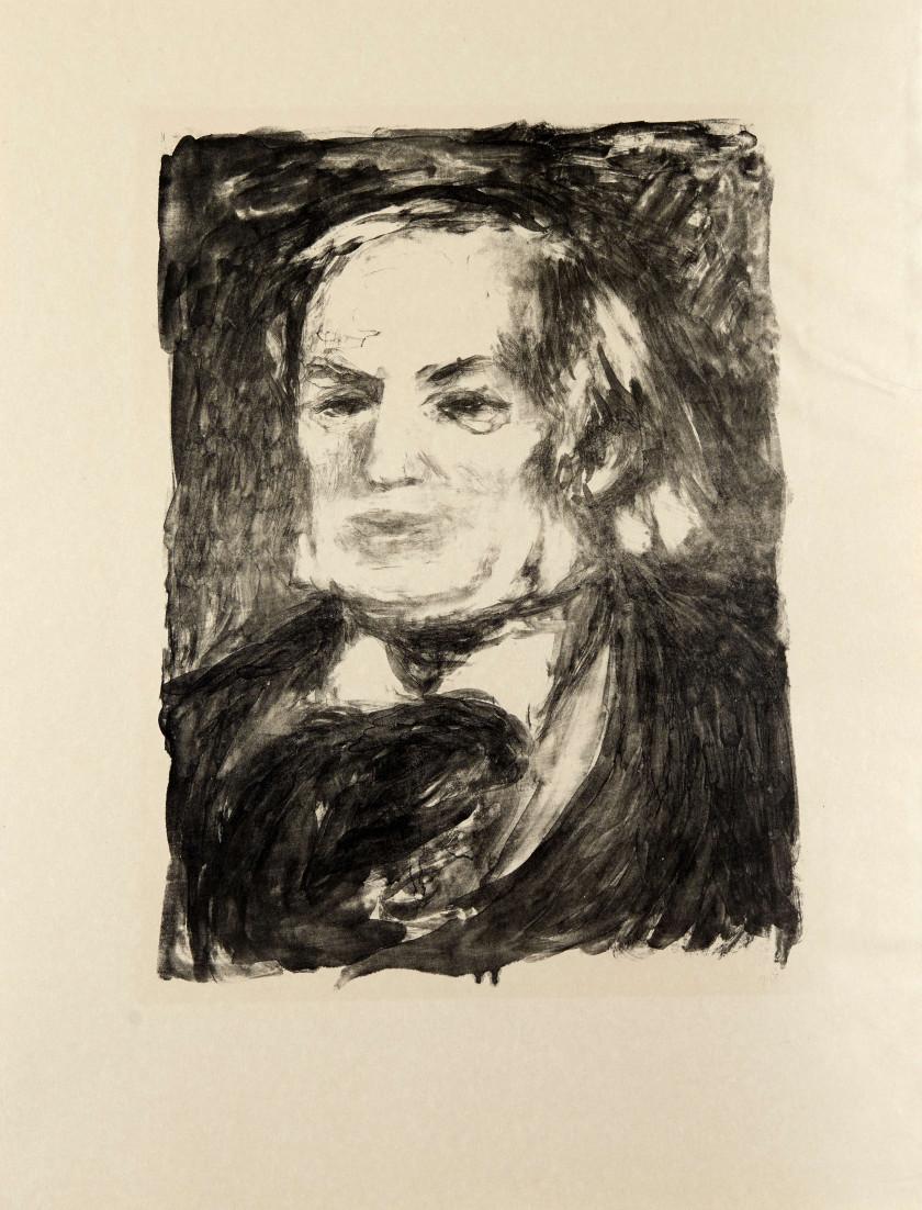 06e6d58f39b D après Pierre-Auguste RENOIR (1841 - 1919) Portrait de Richard Wagner