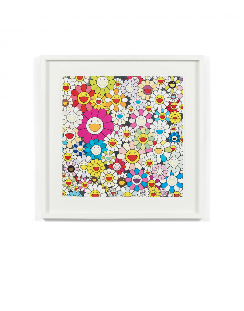 Takashi MURAKAMI ( Né en 1962) Flower of the village of Ponkotan - 2011
