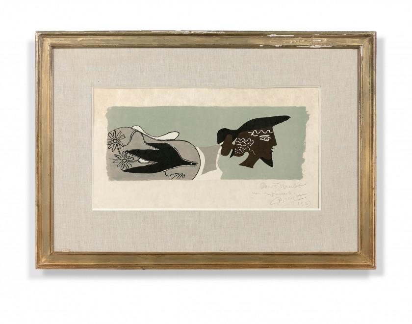 Georges BRAQUE (Argenteuil, 1882 - Paris, 1963) Le poète (Cinq poésies en...