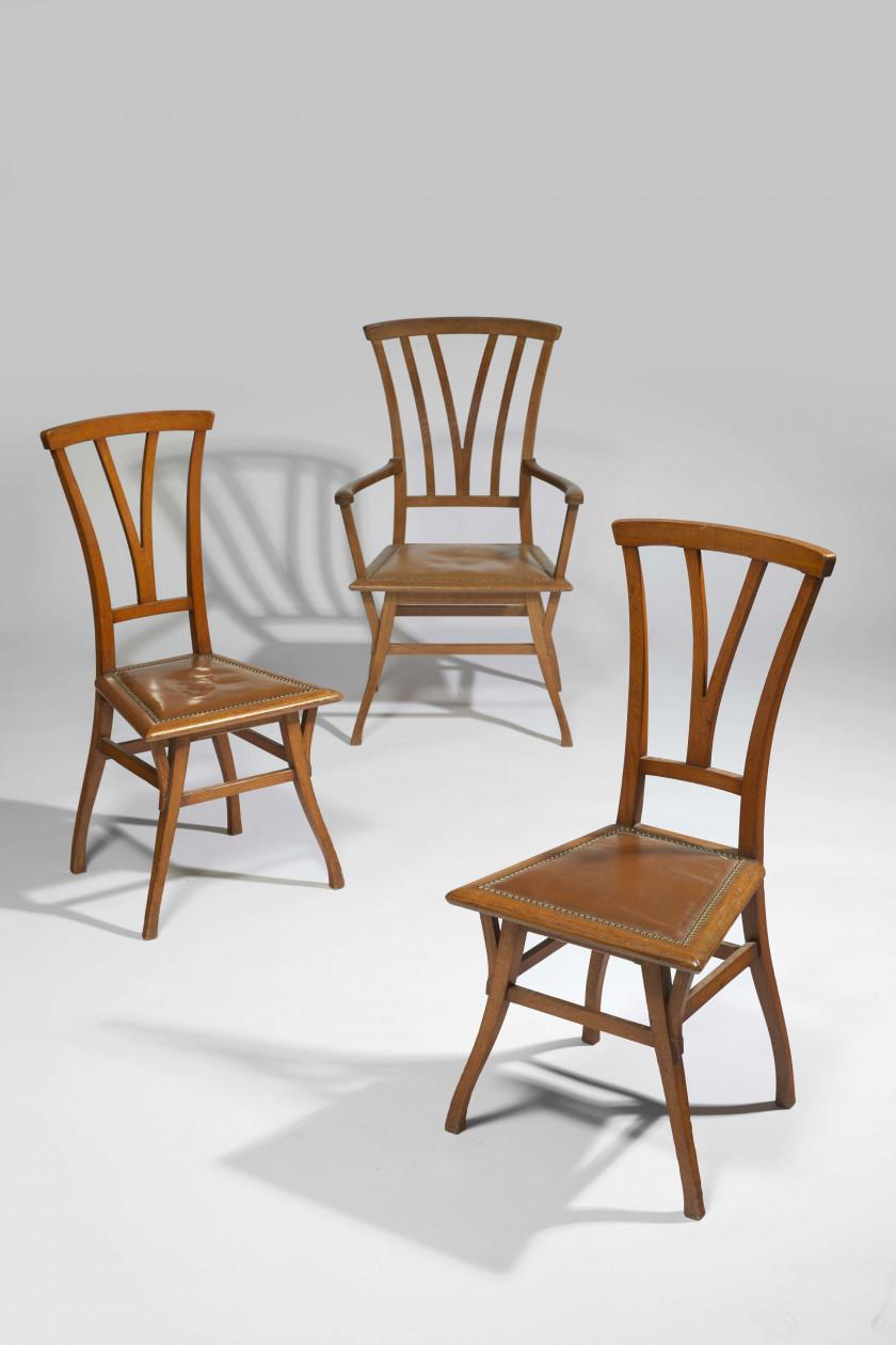 Chaise Style Art Nouveau henry van de velde (dutch, 1863-1957) a - auctions & price