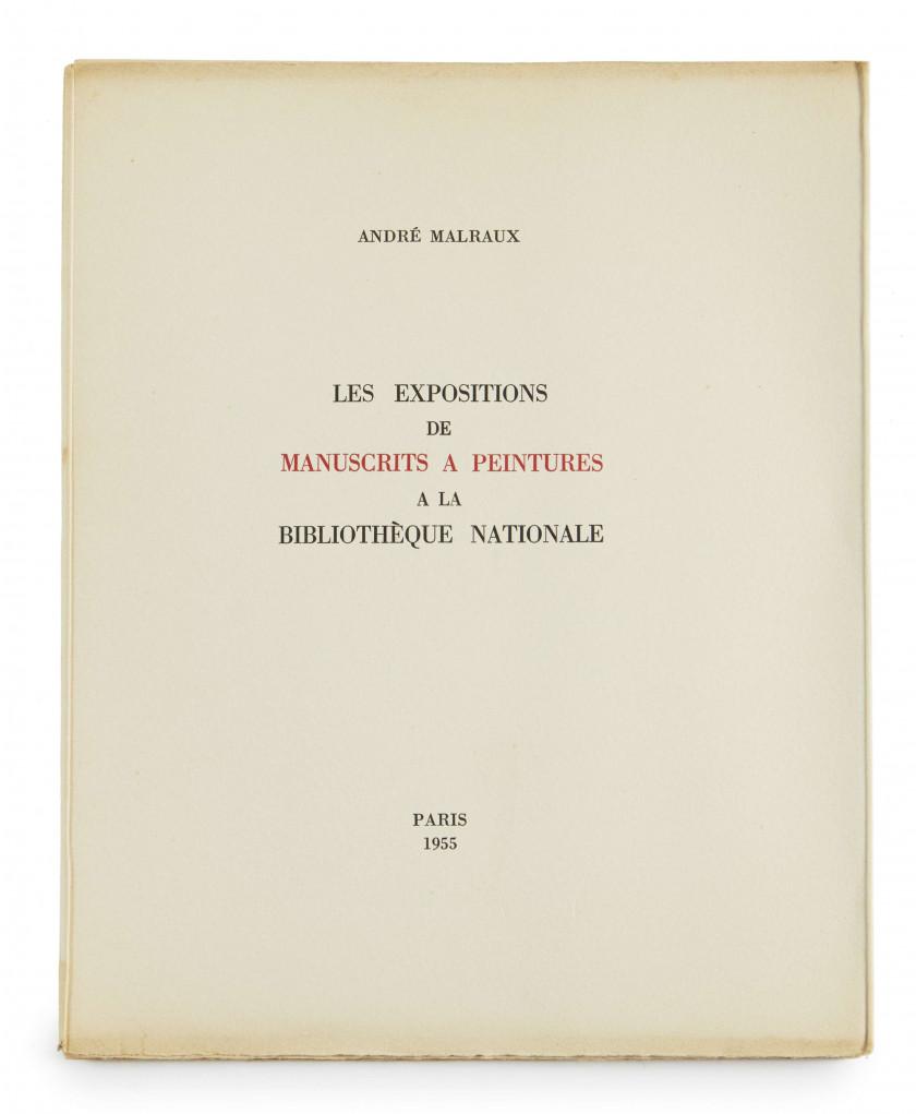 André MALRAUX 1901-1976 Réunion de 3 ouvrages