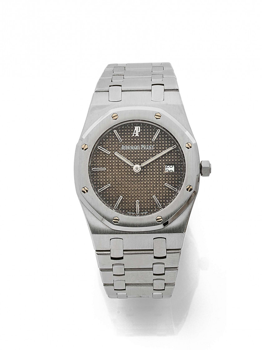 "AUDEMARS PIGUET  Royal Oak ""Tropical Dial"", ref. 56175ST, n° 409814 / 2599.D63970"