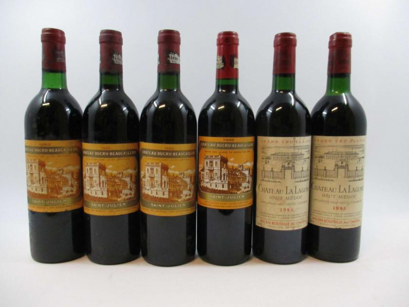 6 bouteilles 1 bt : CHÂTEAU DUCRU BEAUCAILLOU 1982 2è GC Saint Julien (base...