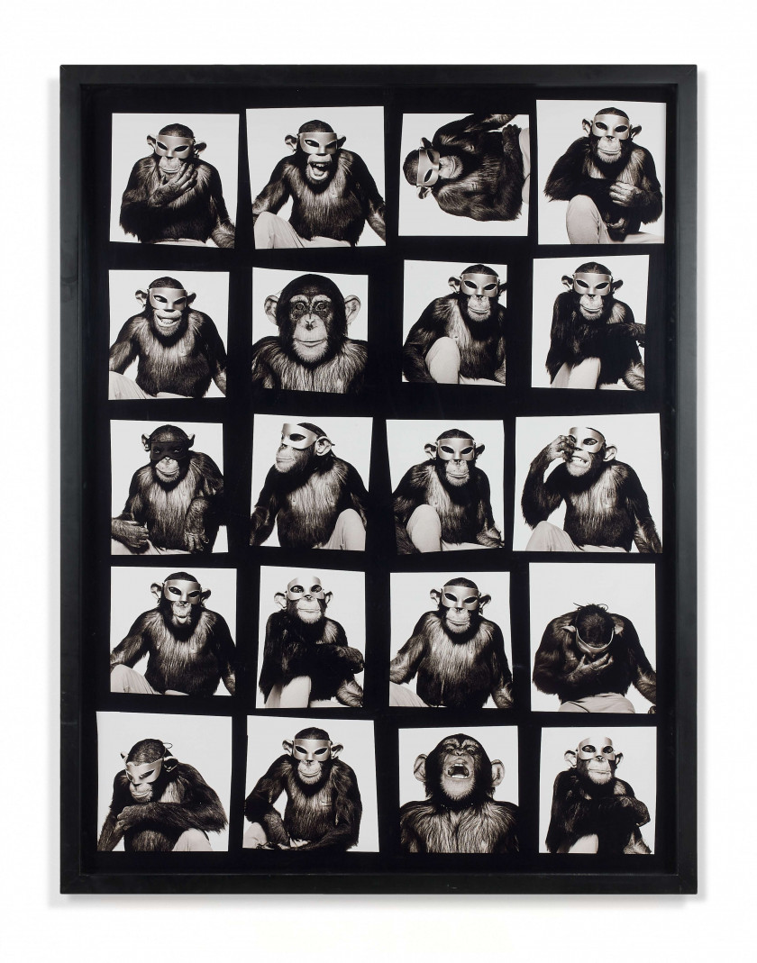 Albert WATSON Né en 1942 Monkey with Masks, New York - 1994 Tirage pigmentaire contrecollé sur aluminium