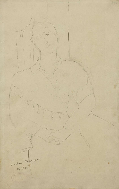 Amedeo MODIGLIANI 1884 - 1920 Madame Minoucha - 1916