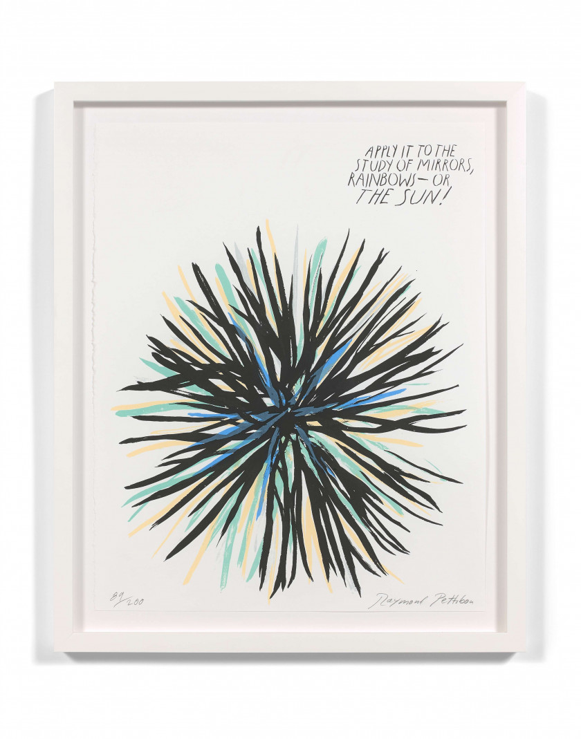 Raymond PETTIBON (Américain - Né en 1957) Untitled (Apply it to...) - 2005 Sérigraphie en couleurs