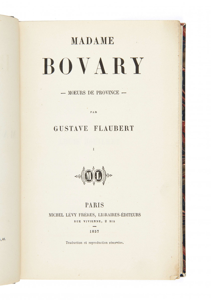 FLAUBERT, Gustave (1821-1880) Madame Bovary