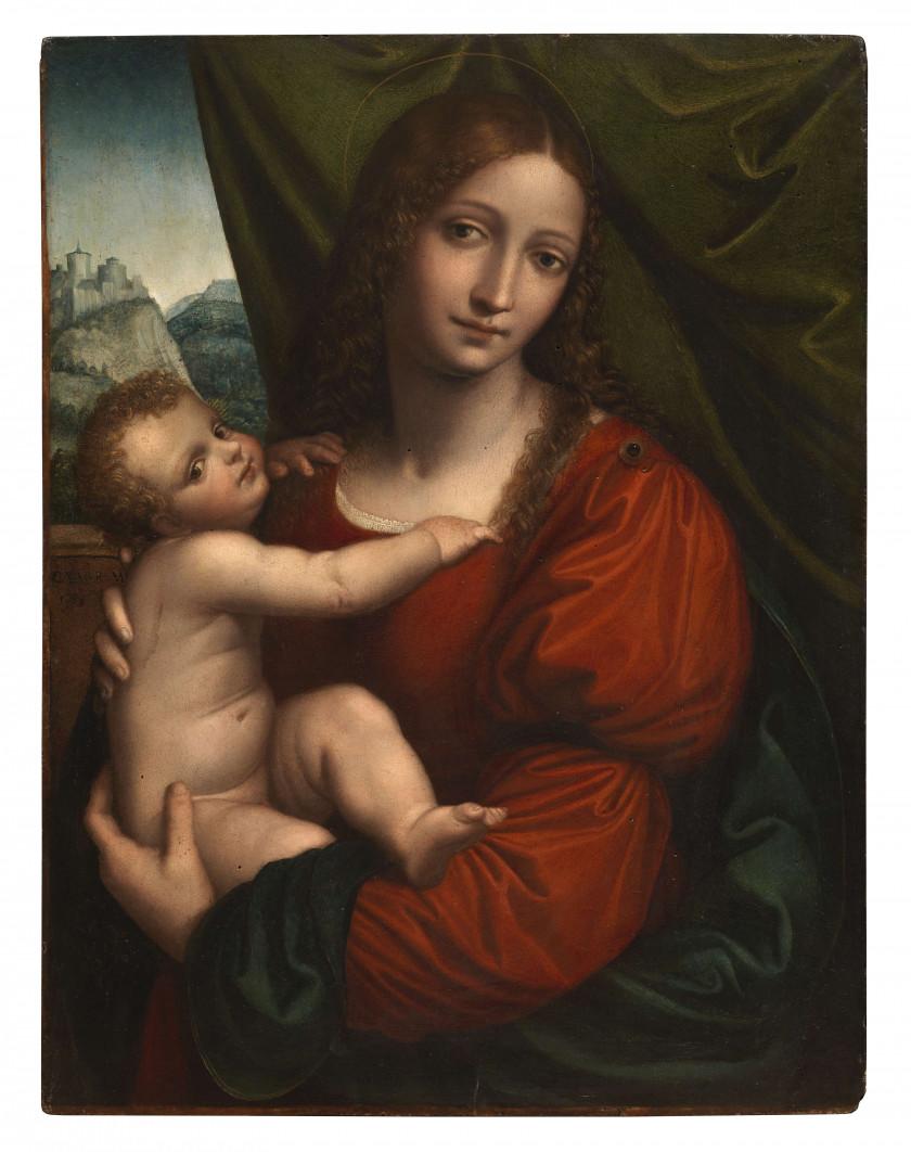 Cesare MAGNI Milan, 1492 - 1534 La Vierge à l'Enfant