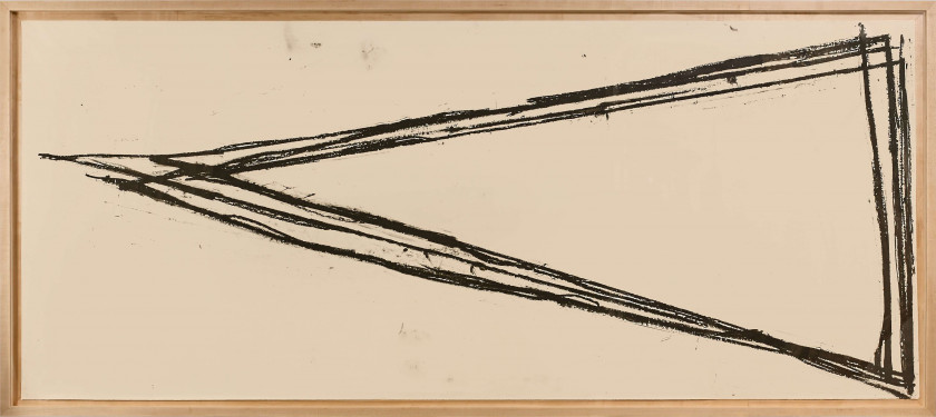 Richard SERRA (Né en 1939) JUDGMENTS ON A SHEET - 1973 Paintstick sur papier