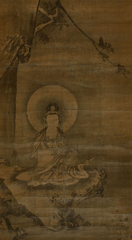 KAKEMONO À L'ENCRE SUR SOIE, Japon, fin de lépoque Edo, XIXe siècle