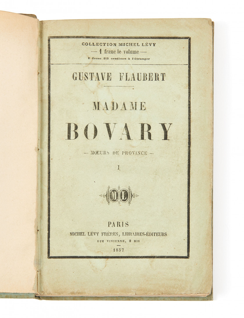 FLAUBERT (Gustave)  Madame Bovary.