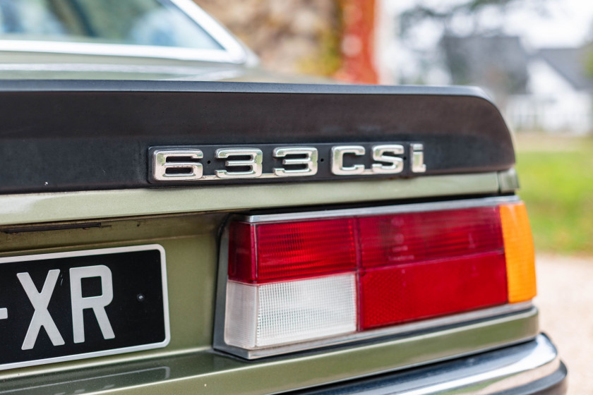 1978 BMW 633 CSI  No reserve