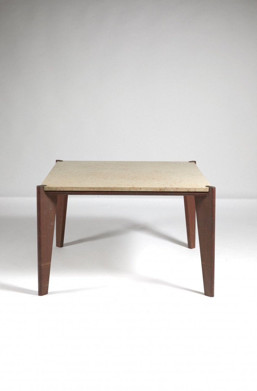 Jean PROUVÉ 1901-1984 Rare table - 1946